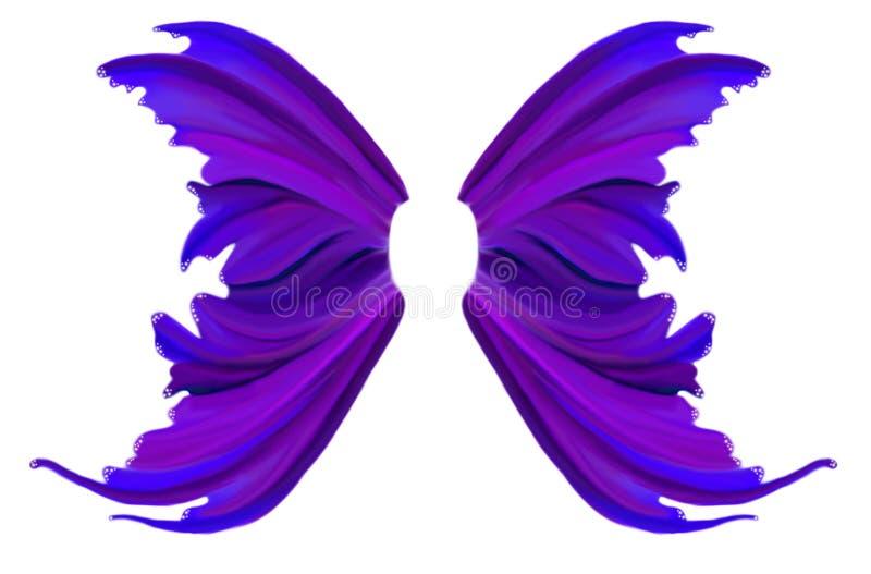 Πορφυρά φτερά νεράιδων ανοίξεων ελεύθερη απεικόνιση δικαιώματος