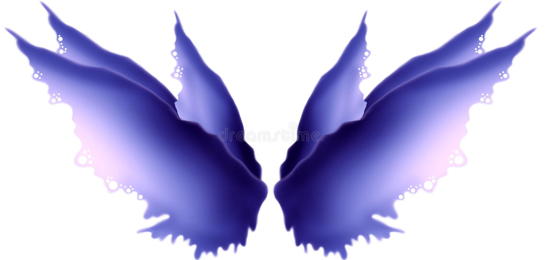 Πορφυρά φτερά νεράιδων Hued διανυσματική απεικόνιση