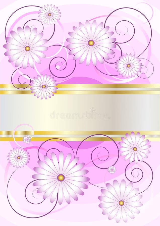 πορφυρές σκιές λουλουδιών ανασκόπησης λεπτές διανυσματική απεικόνιση