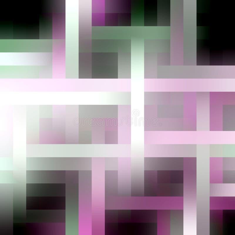 Πορφυρές σκοτεινές άσπρες μορφές, φω'τα, γεωμετρία, χρώματα, φω'τα γεωμετρίας, αφηρημένο υπόβαθρο απεικόνιση αποθεμάτων