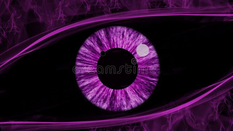 Πορφυρή περίληψη ματιών διανυσματική απεικόνιση