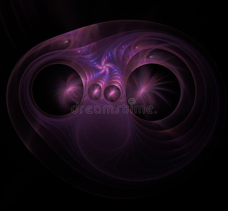 Πορφυρή σπειροειδής fractal εικόνα διανυσματική απεικόνιση