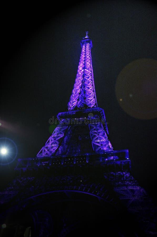 Πορφυρός πύργος στοκ εικόνα