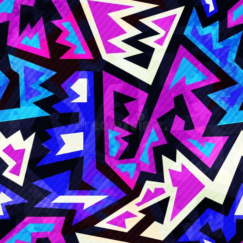 Πορφυρό αναδρομικό άνευ ραφής σχέδιο χρώματος ελεύθερη απεικόνιση δικαιώματος
