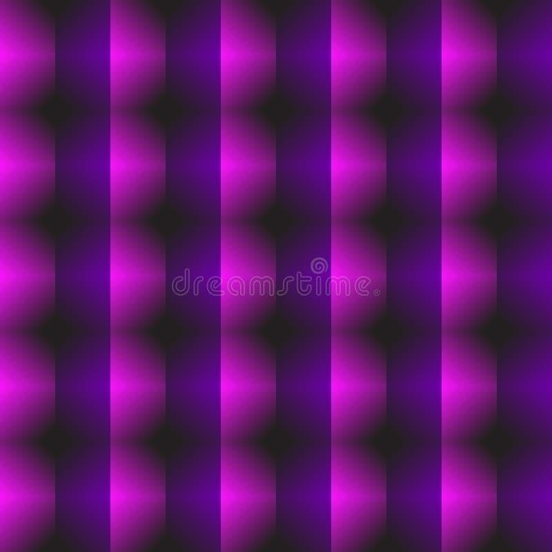 Πορφυρό αφηρημένο σχέδιο Άνευ ραφής γεωμετρική τρισδιάστατη τυπωμένη ύλη που αποτελείται από το πορφυρά και ρόδινα πολύγωνο και τ διανυσματική απεικόνιση
