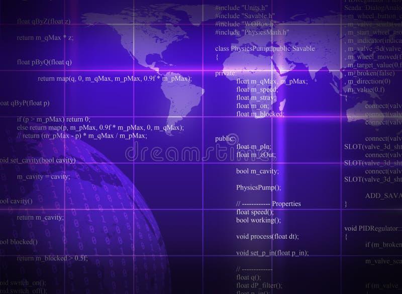 Πορφυρό αφηρημένο υπόβαθρο με τον παγκόσμιο χάρτη διανυσματική απεικόνιση