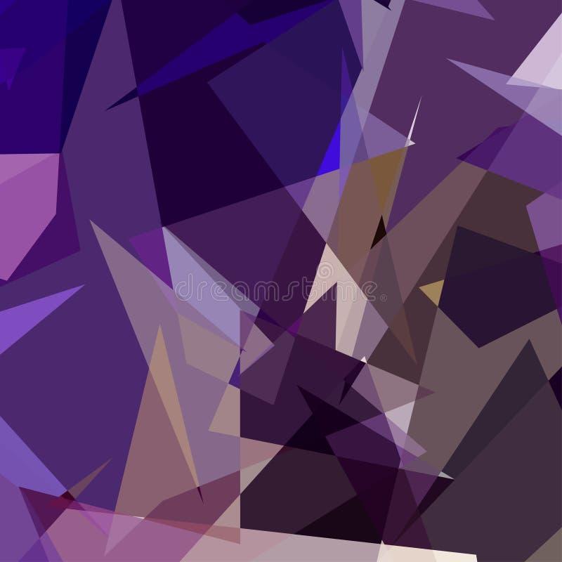 Πορφυρό αφηρημένο υπόβαθρο τριγώνων απεικόνιση αποθεμάτων