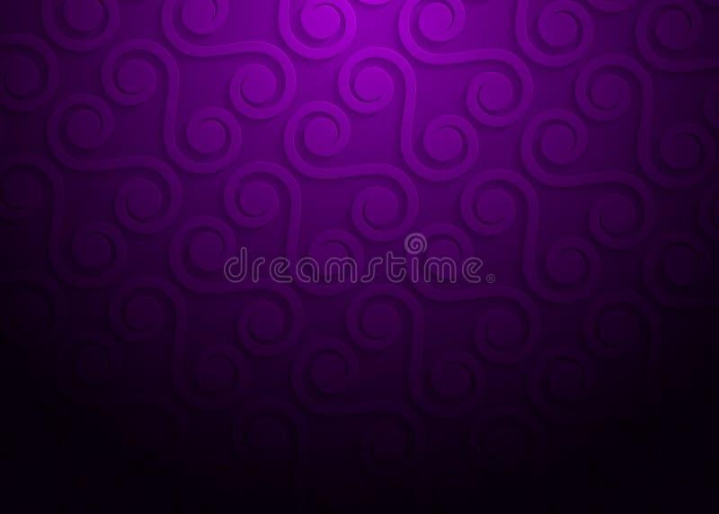 Πορφυρό γεωμετρικό σχέδιο εγγράφου, αφηρημένο πρότυπο υποβάθρου για τον ιστοχώρο, έμβλημα, επαγγελματική κάρτα, πρόσκληση διανυσματική απεικόνιση