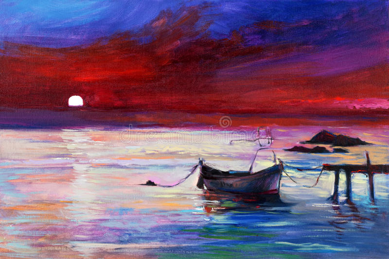 Πορφυρό ηλιοβασίλεμα ελεύθερη απεικόνιση δικαιώματος