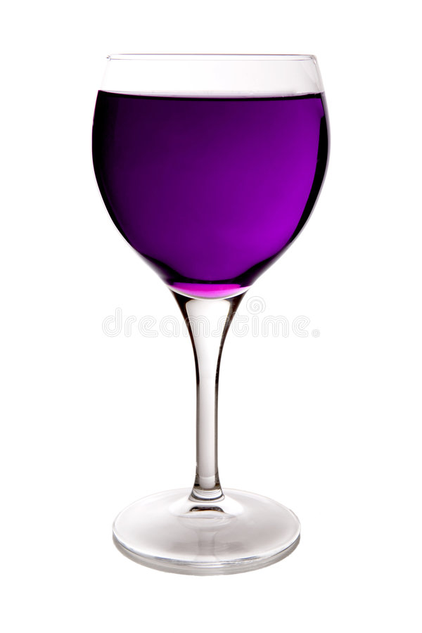πορφυρό κρασί γυαλιού στοκ φωτογραφία με δικαίωμα ελεύθερης χρήσης