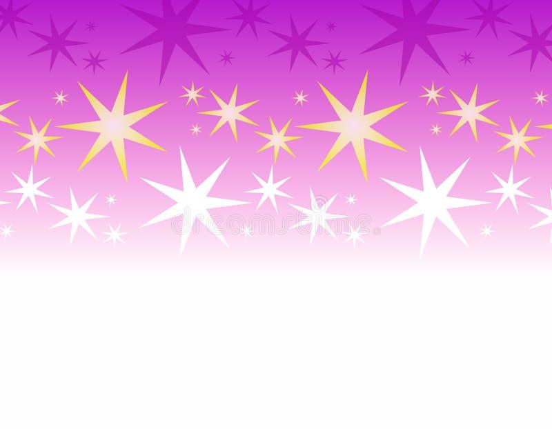 πορφυρό λευκό αστεριών συνόρων απεικόνιση αποθεμάτων