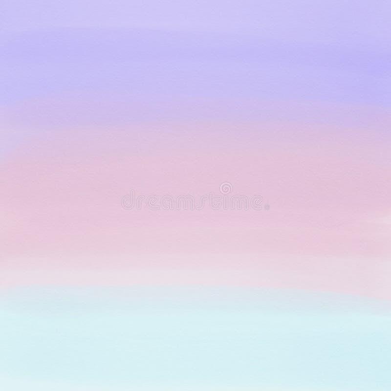 Πορφυρό, ρόδινο και ανοικτό μπλε αφηρημένο υπόβαθρο κλίσης watercolor αφηρημένο ανασκόπησης τέρας φαντασίας σύνθεσης daemon σκοτε ελεύθερη απεικόνιση δικαιώματος