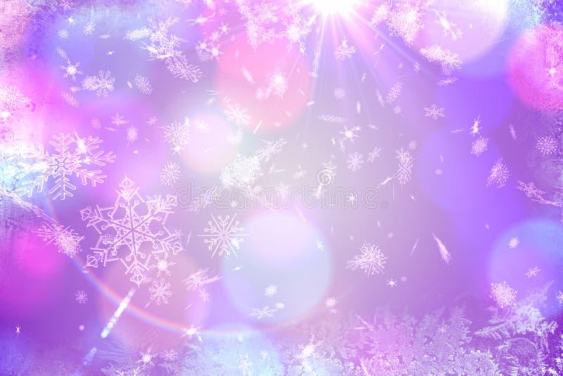 Πορφυρό σχέδιο σχεδίων νιφάδων χιονιού απεικόνιση αποθεμάτων