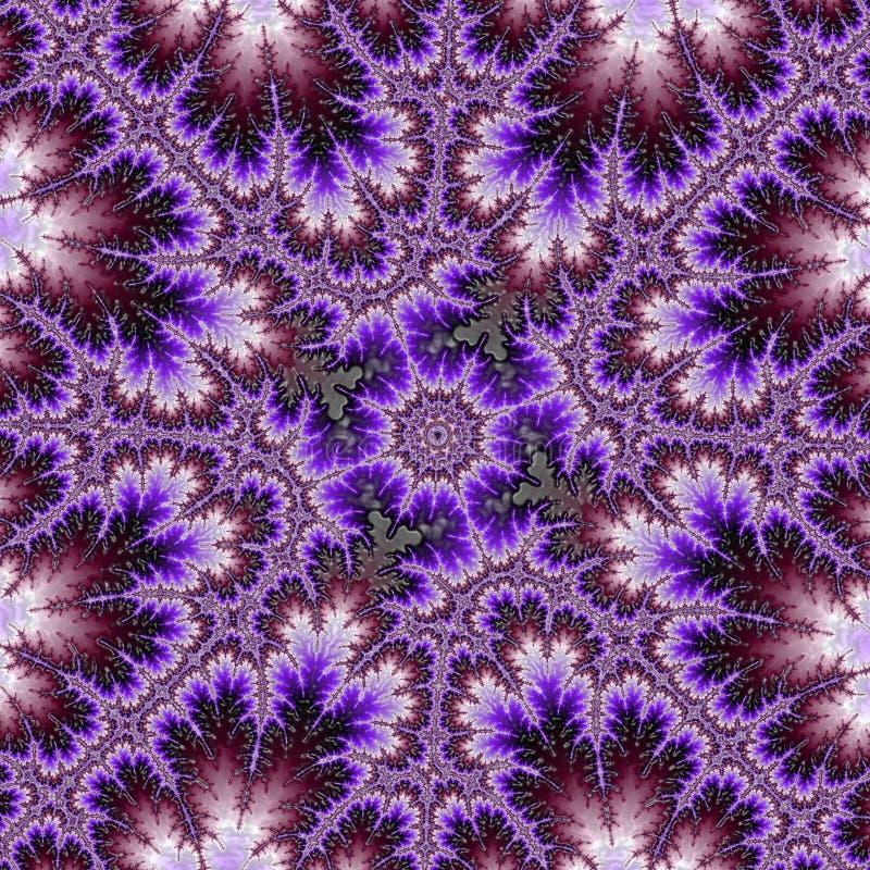 Πορφυρό fractal αμβροσιών με τους στροβίλους και τα αστέρια στοκ εικόνες
