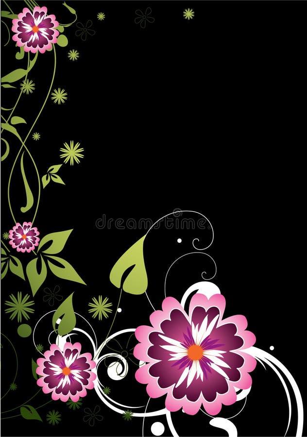 πορφύρα λουλουδιών διανυσματική απεικόνιση