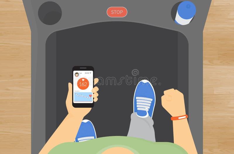 Ποσοστό σφυγμού κινητό app ελεύθερη απεικόνιση δικαιώματος