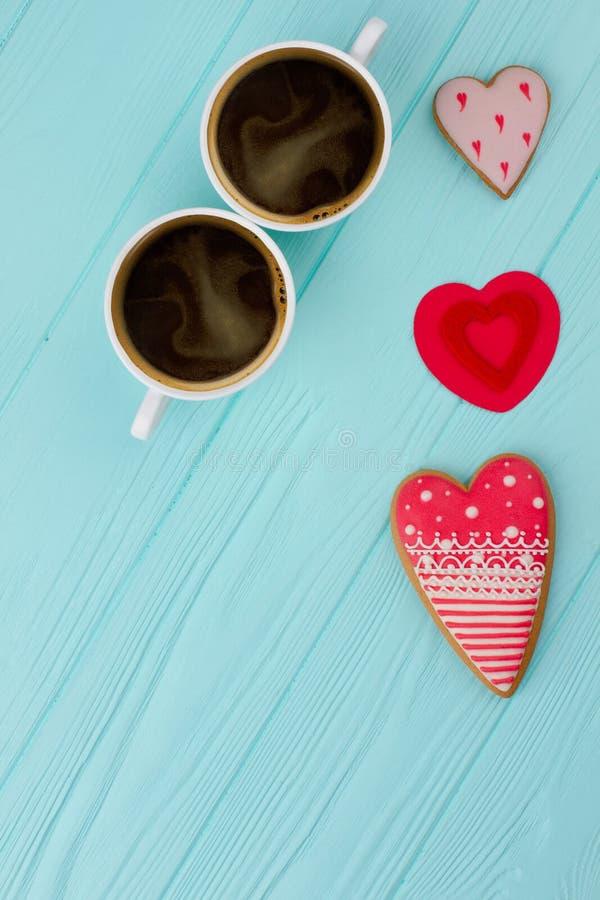 Ποτά καφέ ημέρας βαλεντίνων στοκ εικόνες