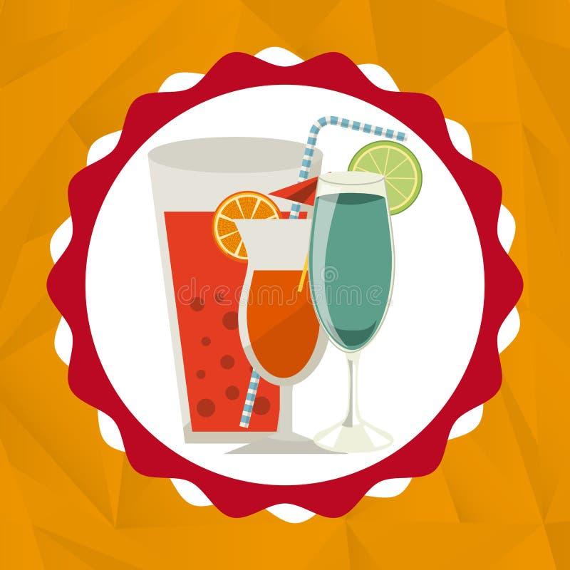 Download Ποτά με το σχέδιο γυαλιών της Διανυσματική απεικόνιση - εικονογραφία από πιάτα, κουζίνα: 62705403