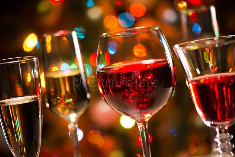 Ποτήρια κρυστάλλου του κρασιού στοκ φωτογραφία