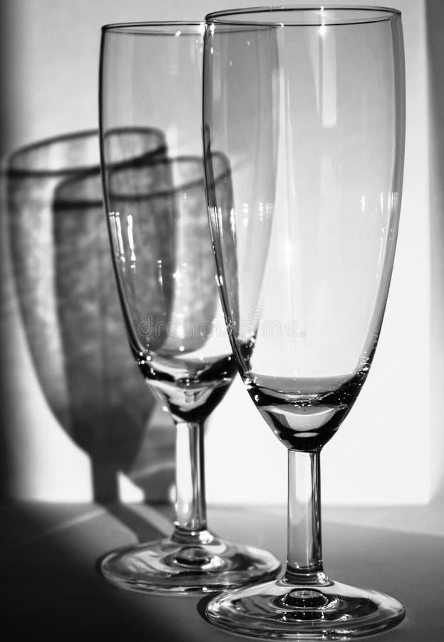Ποτήρια της σαμπάνιας στοκ εικόνα