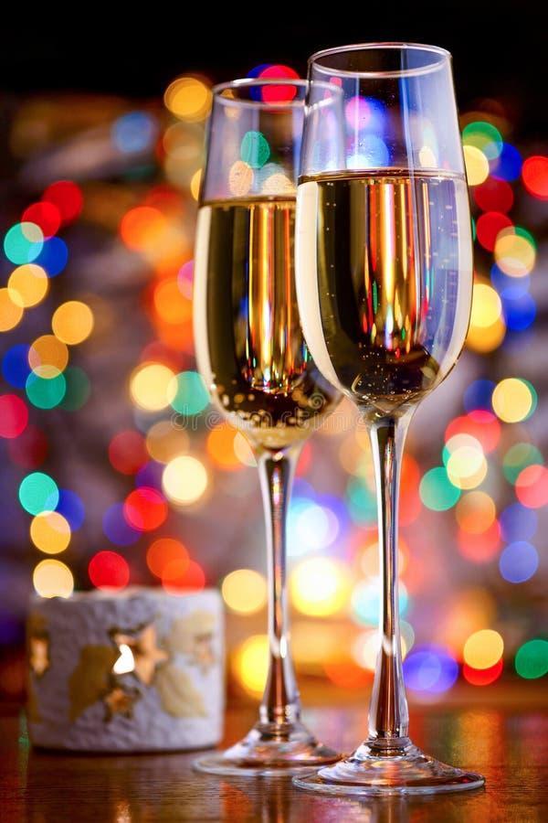 Ποτήρια του λαμπιρίζοντας κρασιού στοκ φωτογραφία