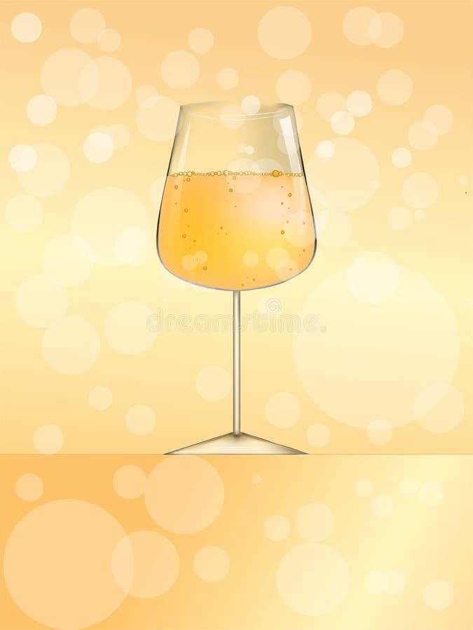 Ποτήρι της διανυσματικής απεικόνισης κρασιού ή μπύρας ή σαμπάνιας απεικόνιση αποθεμάτων