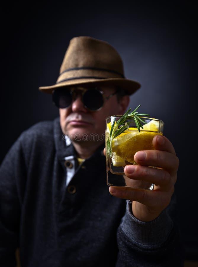 Ποτήρι του ποτού λεμονιών στοκ εικόνες με δικαίωμα ελεύθερης χρήσης