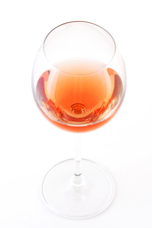 Ποτήρι του ροδαλού κρασιού στο άσπρο bacground στοκ φωτογραφία με δικαίωμα ελεύθερης χρήσης