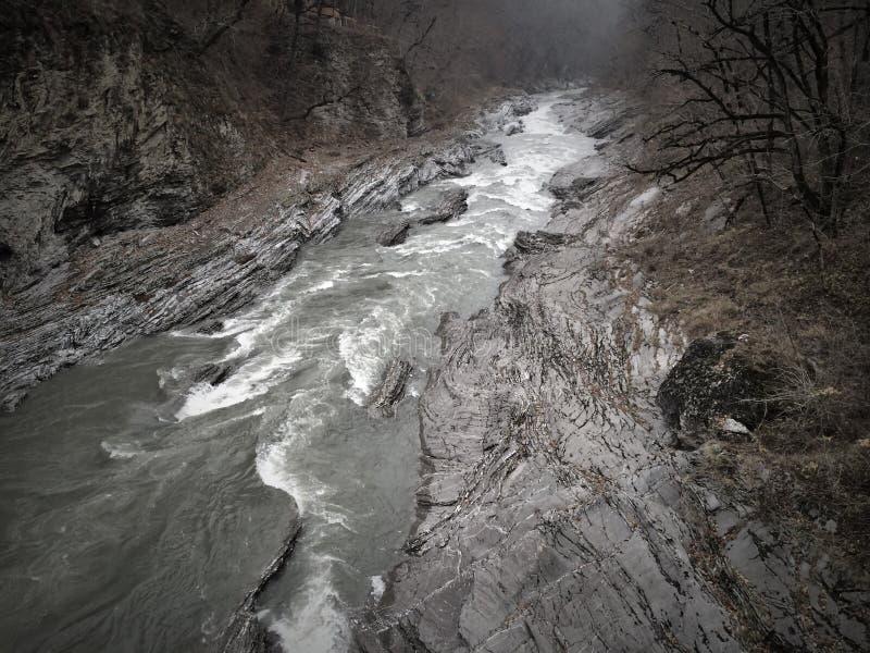 Ποταμός βουνών στο φαράγγι στοκ φωτογραφία με δικαίωμα ελεύθερης χρήσης