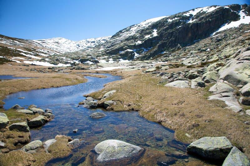 Ποταμός βουνών Gredos στοκ φωτογραφία