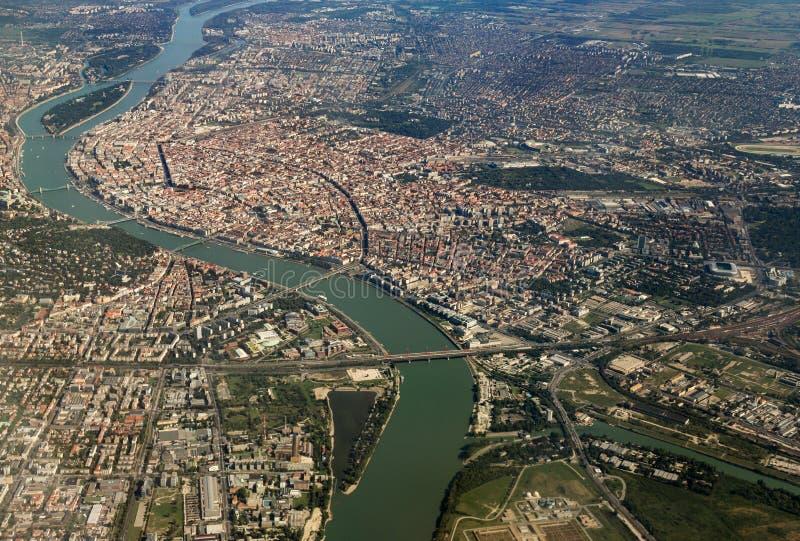 Ποταμός Δούναβη, Βουδαπέστη στοκ εικόνες με δικαίωμα ελεύθερης χρήσης