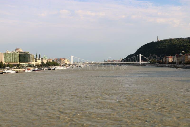 Ποταμός Δούναβη στη Βουδαπέστη, Ουγγαρία στοκ εικόνες