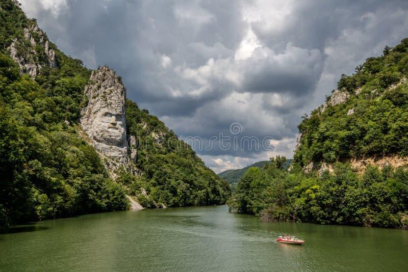 Ποταμός Δούναβη | Decebalus Rex στοκ εικόνες