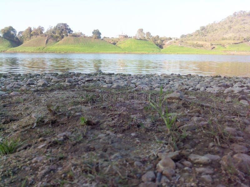 Ποταμός Ινδία Narmada στοκ εικόνα
