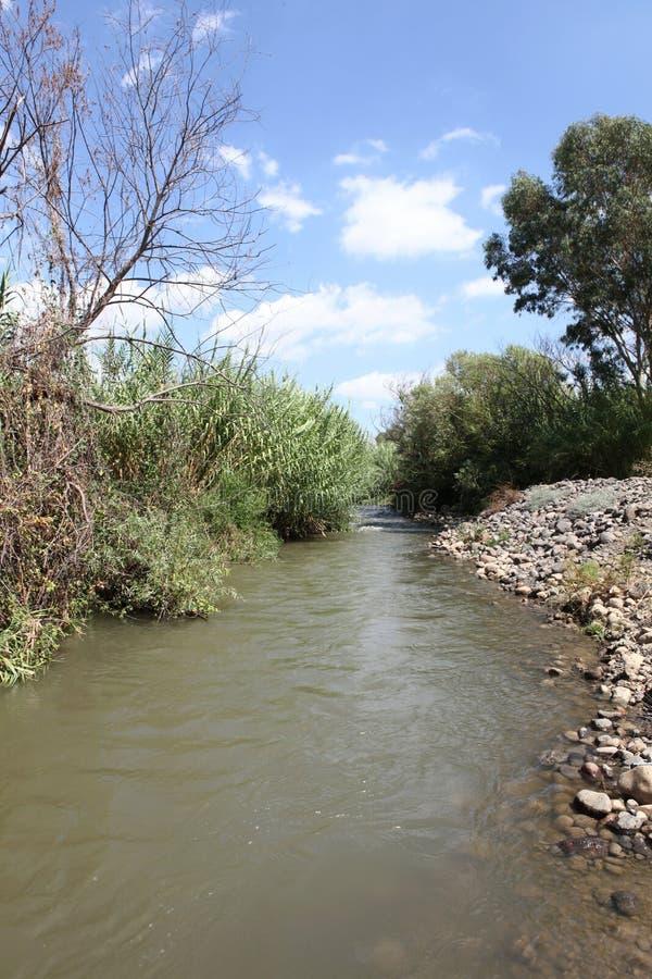Ποταμός Ιορδάνης Ισραήλ στοκ φωτογραφία