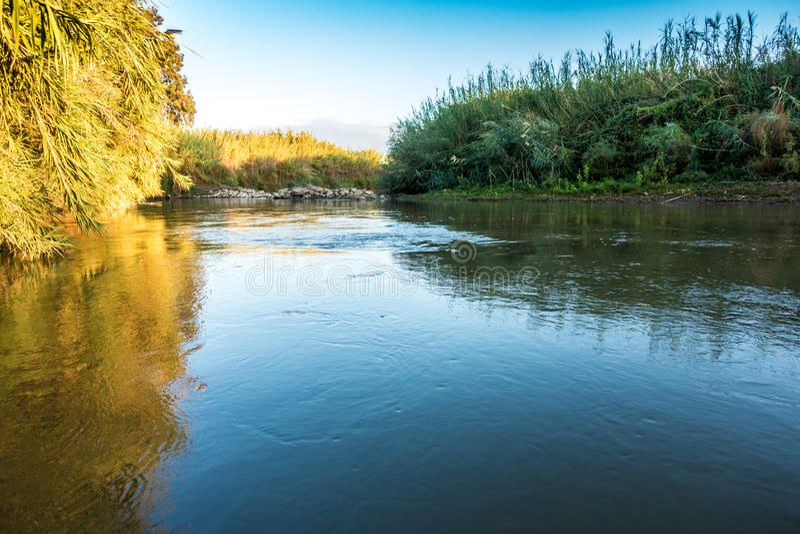 Ποταμός Ιορδάνης, Ισραήλ στοκ εικόνες