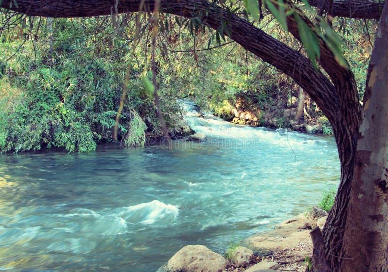 Ποταμός Ιορδάνης (τρύγος επεξεργασμένος) στοκ εικόνες