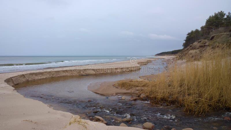 Ποταμός και θάλασσα στοκ εικόνες με δικαίωμα ελεύθερης χρήσης