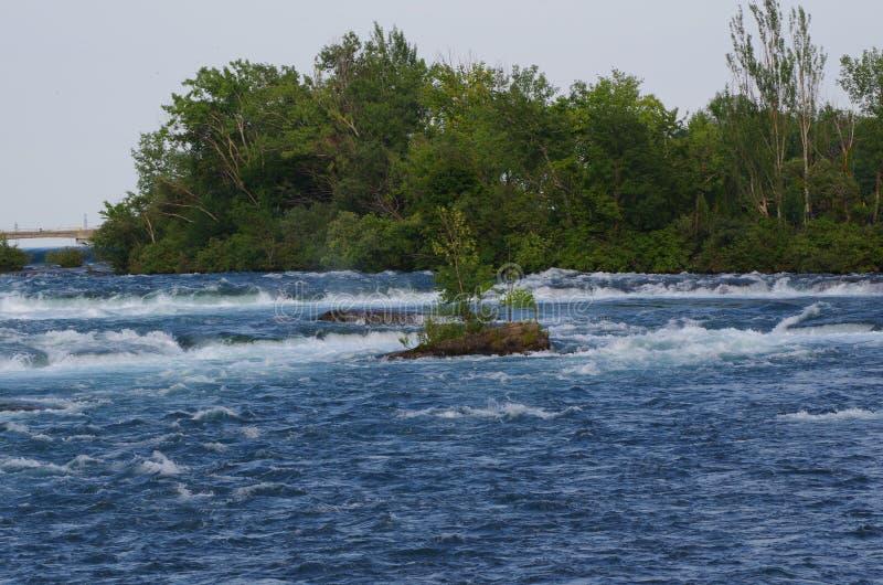Ποταμός και ορμητικά σημεία ποταμού στοκ εικόνα
