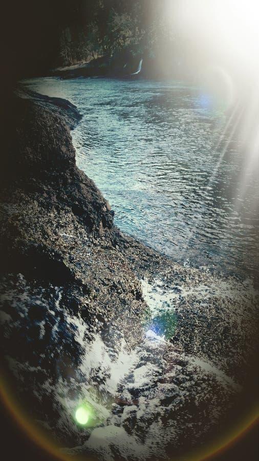 Ποταμός με τους καταρράκτες στοκ φωτογραφίες