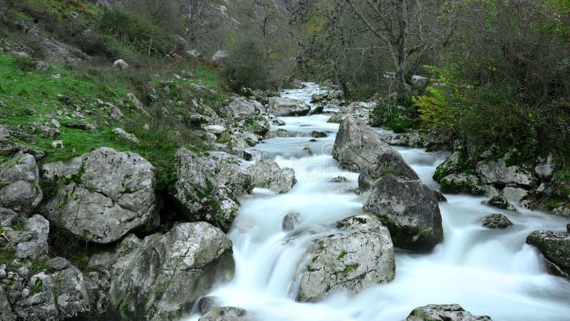 Ποταμός Ντούιε στο Picos de Europa στις Αστούριες στοκ φωτογραφία με δικαίωμα ελεύθερης χρήσης