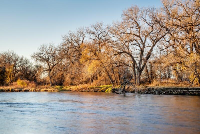 Ποταμός νότιου Platte στο Κολοράντο στοκ εικόνες