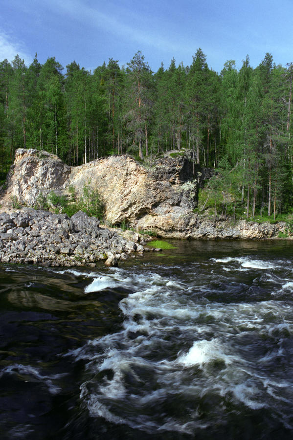 ποταμός πάρκων oulanka στοκ φωτογραφία