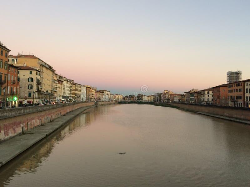 Ποταμός Πίζα Arno στοκ εικόνες