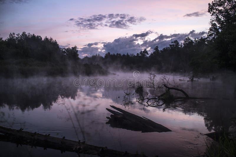 ποταμός πρωινού αλιείας αυγής στοκ φωτογραφία με δικαίωμα ελεύθερης χρήσης