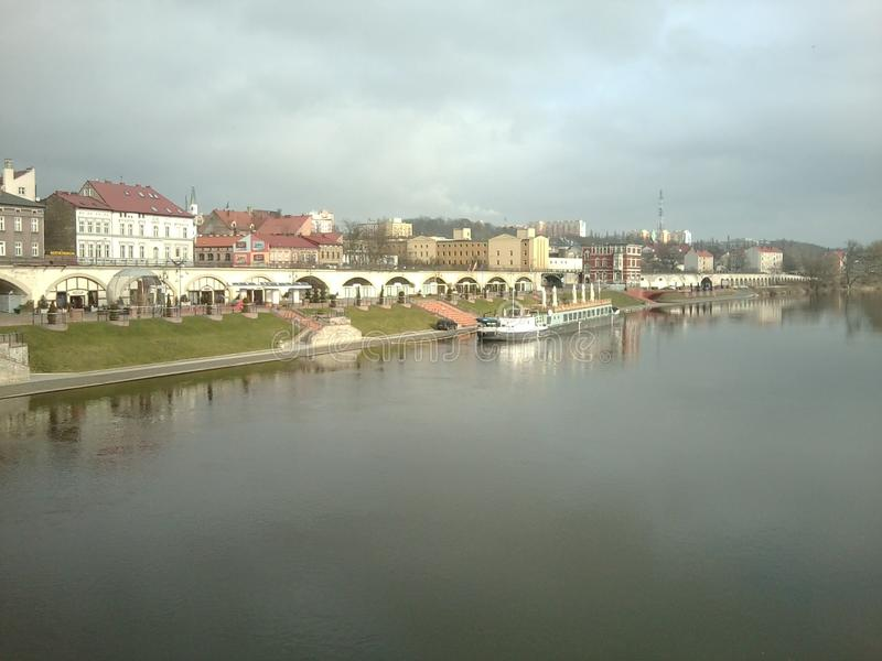 Ποταμός σε Goghuv Velkopolskiy στοκ φωτογραφία με δικαίωμα ελεύθερης χρήσης