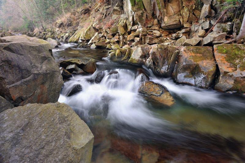 Ποταμός στα Καρπάθια βουνά στοκ εικόνα με δικαίωμα ελεύθερης χρήσης