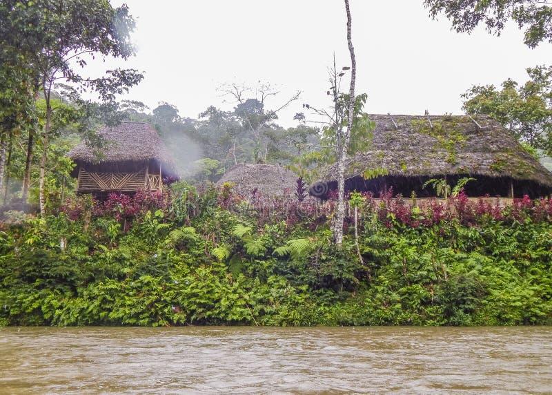 Ποταμός στην Αμαζονία σε Puyo, Ισημερινός στοκ εικόνα