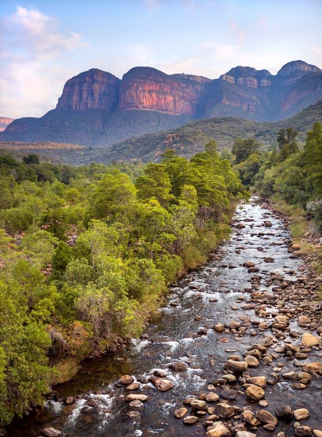 Ποταμός στη Νότια Αφρική Ο ποταμός Blyde στοκ εικόνες