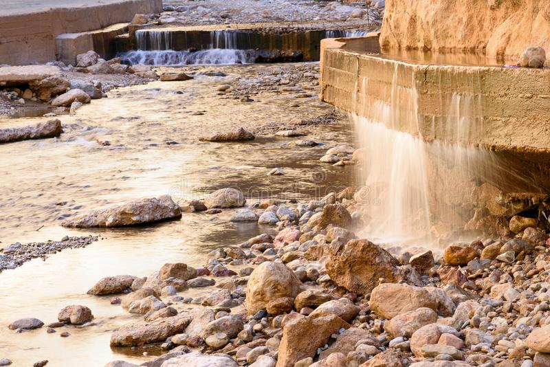 Ποταμός στο φαράγγι Todgha Μαρόκο στοκ εικόνα με δικαίωμα ελεύθερης χρήσης